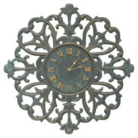 Whitehall Products Filigree Silhouette 21-in. in. Indoor/Outdoor Wall Clock