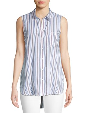 Stripe-Print Sleeveless Tunic