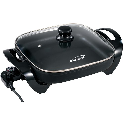 Brentwood Appliances Electric Skillet with Glass Lid