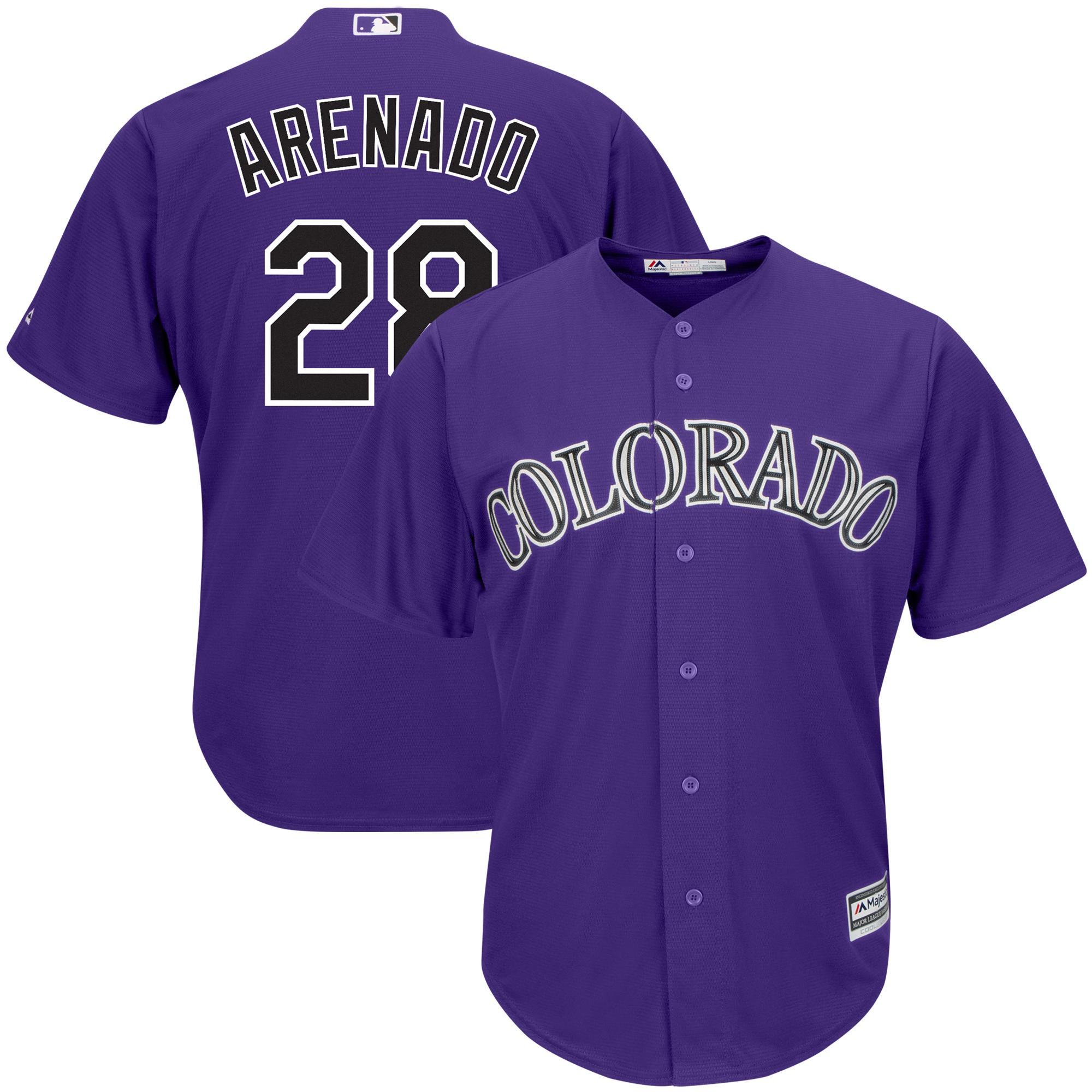 Nolan Arenado Colorado Rockies Majestic Alternate Official Cool Base Player Jersey - Purple