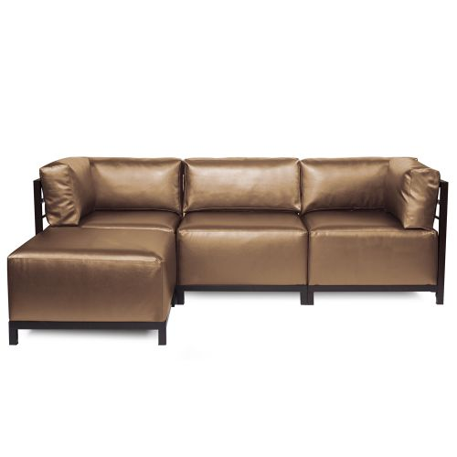 4-Pc Sectional Sofa in Shimmer Bronze by Howard Elliott