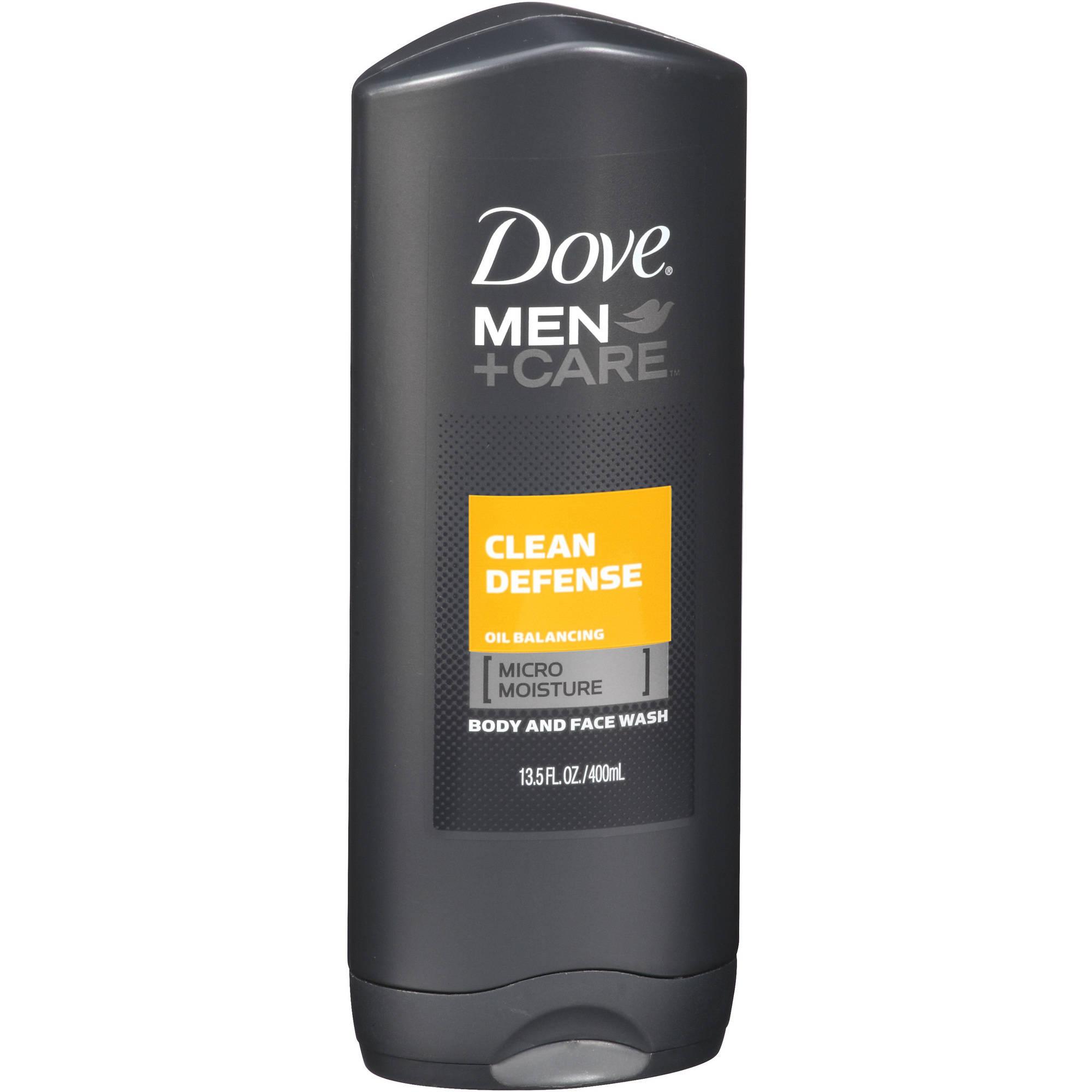 Men+ Care Clean Defense Body and Face Wash Dove 13.5 oz Body Wash Men