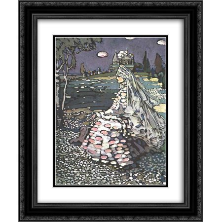 Russian Landscape - Wassily Kandinsky 2x Matted 20x24 Black Ornate Framed Art Print 'Russian beauty in a landscape'