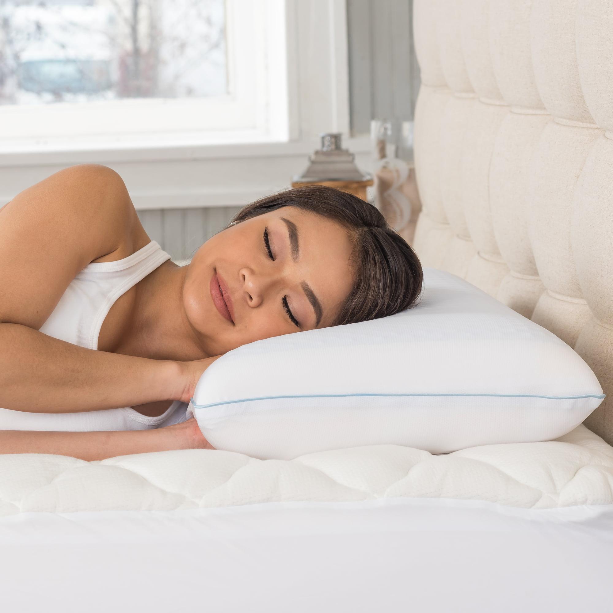 Modern Sleep Reversible Cool Gel and Memory Foam Pillow, Standard by Classic Brands