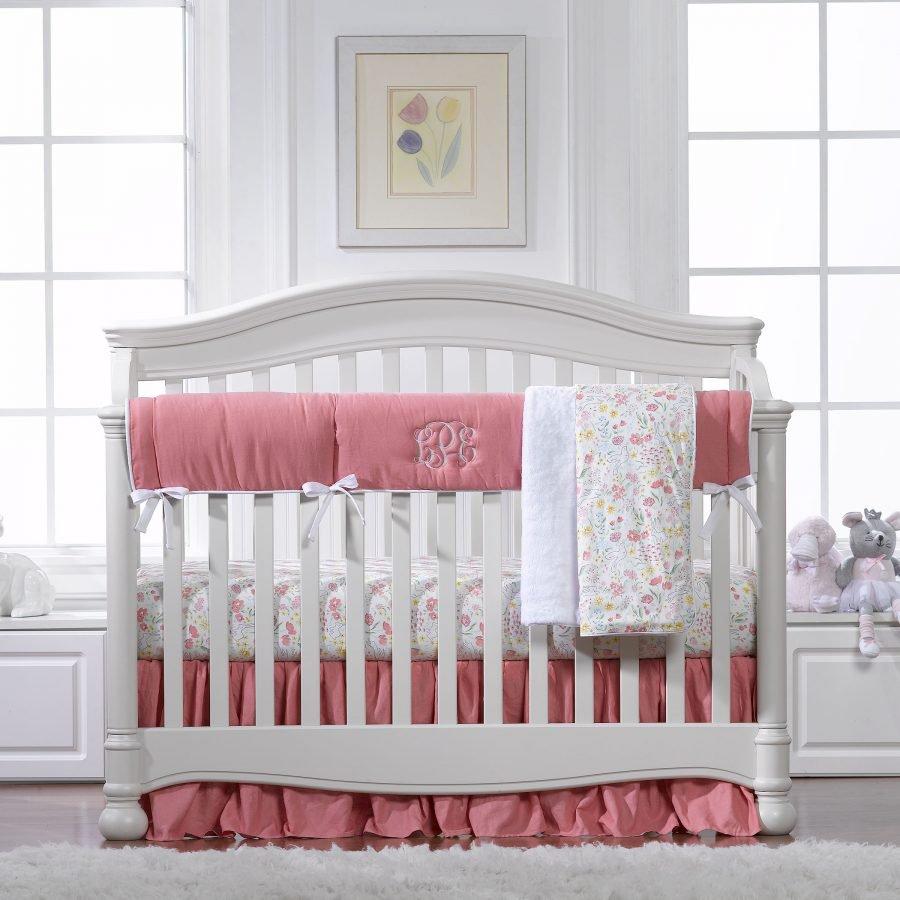 Nectar Linens 3 Pc. Girl Crib Bedding Set