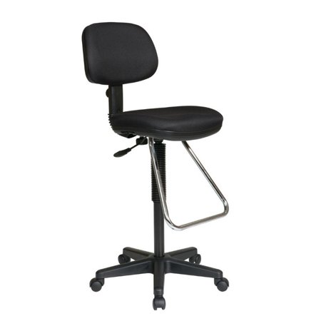 Pneumatic Drafting Chair with Chrome Teardrop (Pneumatic Drafting Chair)