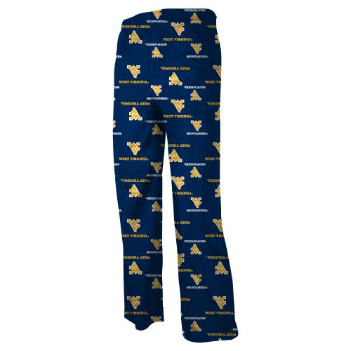 West Virginia Mountaineers Youth NCAA Printed Logo Pajama Pants by Outerstuff
