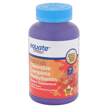 Equate Children's Chewable Complete Multivitamin Tablets, 150