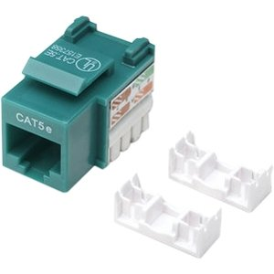 Intellinet 210997 Intellinet Network Solutions Cat5e Keystone Jack   1 X Rj 45 Female   Green