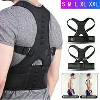 Back Brace Posture Corrector - Back Support Belt with Adjustable Straps Relief Lower & Upper Back Pain, Improve Posture & Provides Lumbar Support - Fit for Men & Women