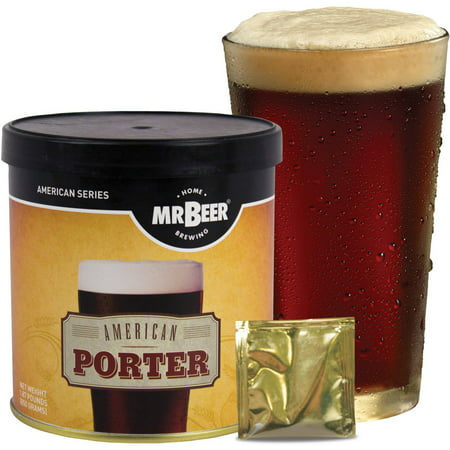 Mr. Beer American Porter Craft Beer Refill Kit, Contains Hopped Malt Extract Designed for Consistent, Simple and Efficient (Stegmaier Beer)