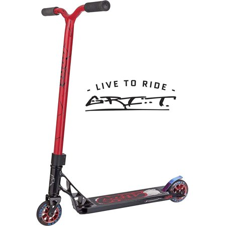 Grit Fluxx Complete Pro Scooter Intermediate Rider Satin Black/Red (Grit Scooter Pro)