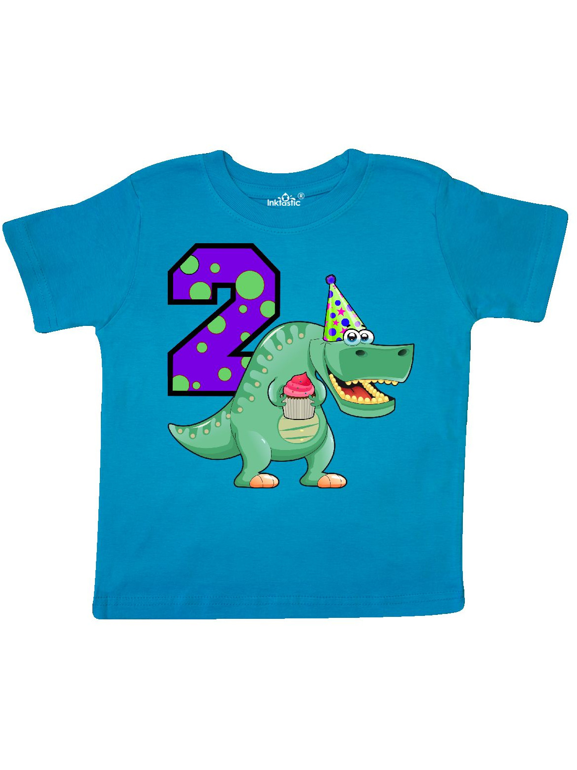 2nd Birthday T Rex Toddler Shirt