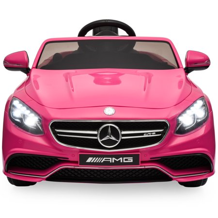 Kid Cars For Sale (Best Choice Products 12V Kids Battery Powered Licensed Mercedes-Benz S63 Coupe RC Ride-On Car w/ Parent Control, LED Lights, MP3 Player, 3 Speeds -)