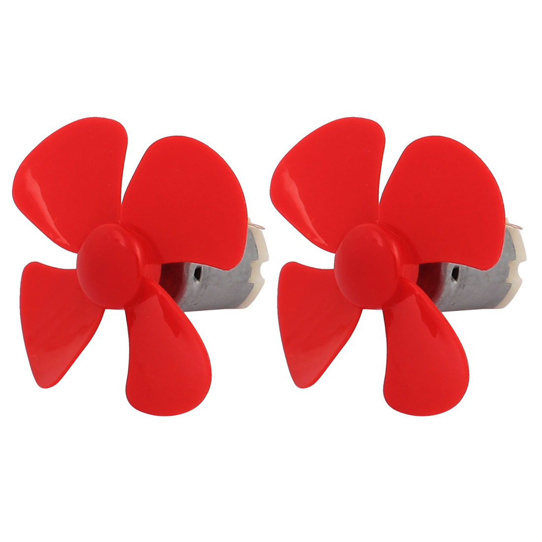 2Pcs DC12V 0.04A 14000RPM Aircraft Model Motor 4-vane Propeller 56mmx2mm - image 5 of 5