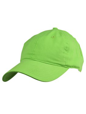 DALIX Womens Pastel Lovers Cap - Adjustable Hat with Velcro Closure in Lime Green