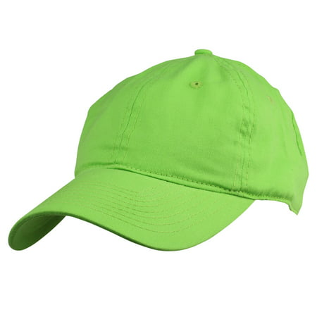 DALIX Womens Pastel Lovers Cap - Adjustable Hat with Velcro Closure in Lime Green ()