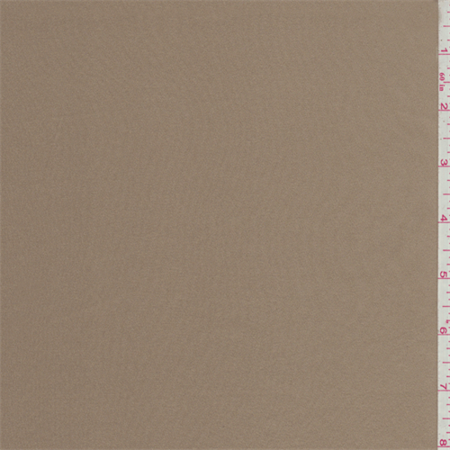 Suntan Brown Stretch Charmeuse, Fabric Sold By the Yard ()