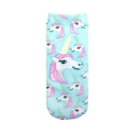 Glow In the Dark Ankle Socks: Pastel Unicorn