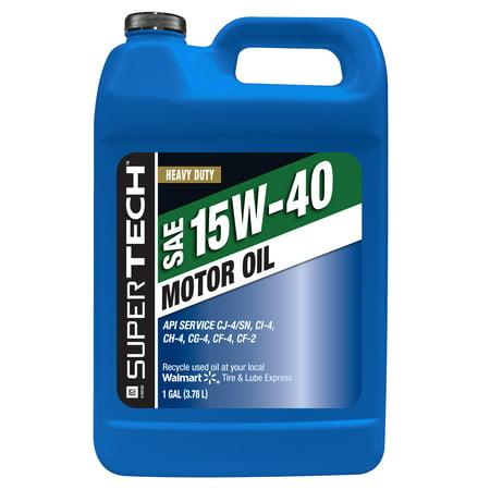 Super Tech Universal Motor Oil 15W40, 1 gal