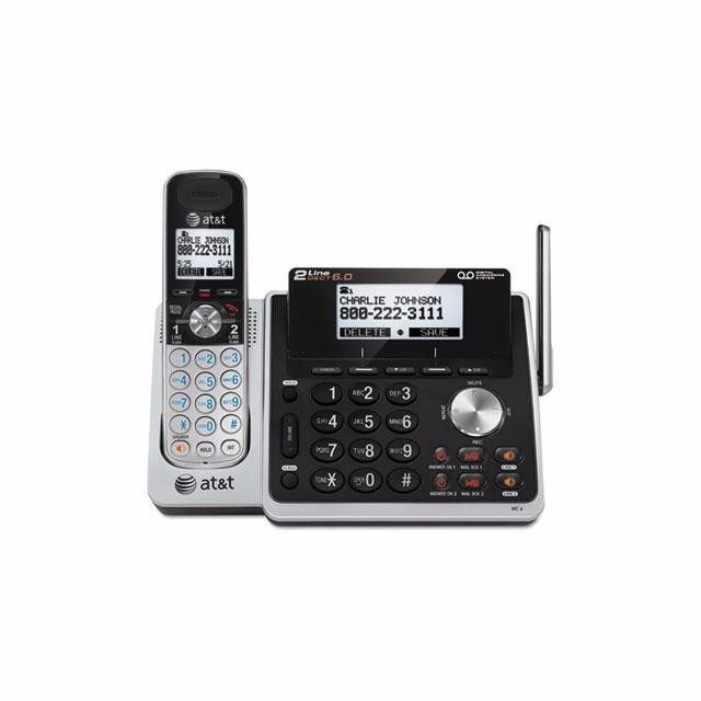 AT&T TL88102 Cordless Two-Line Digital Answering System by