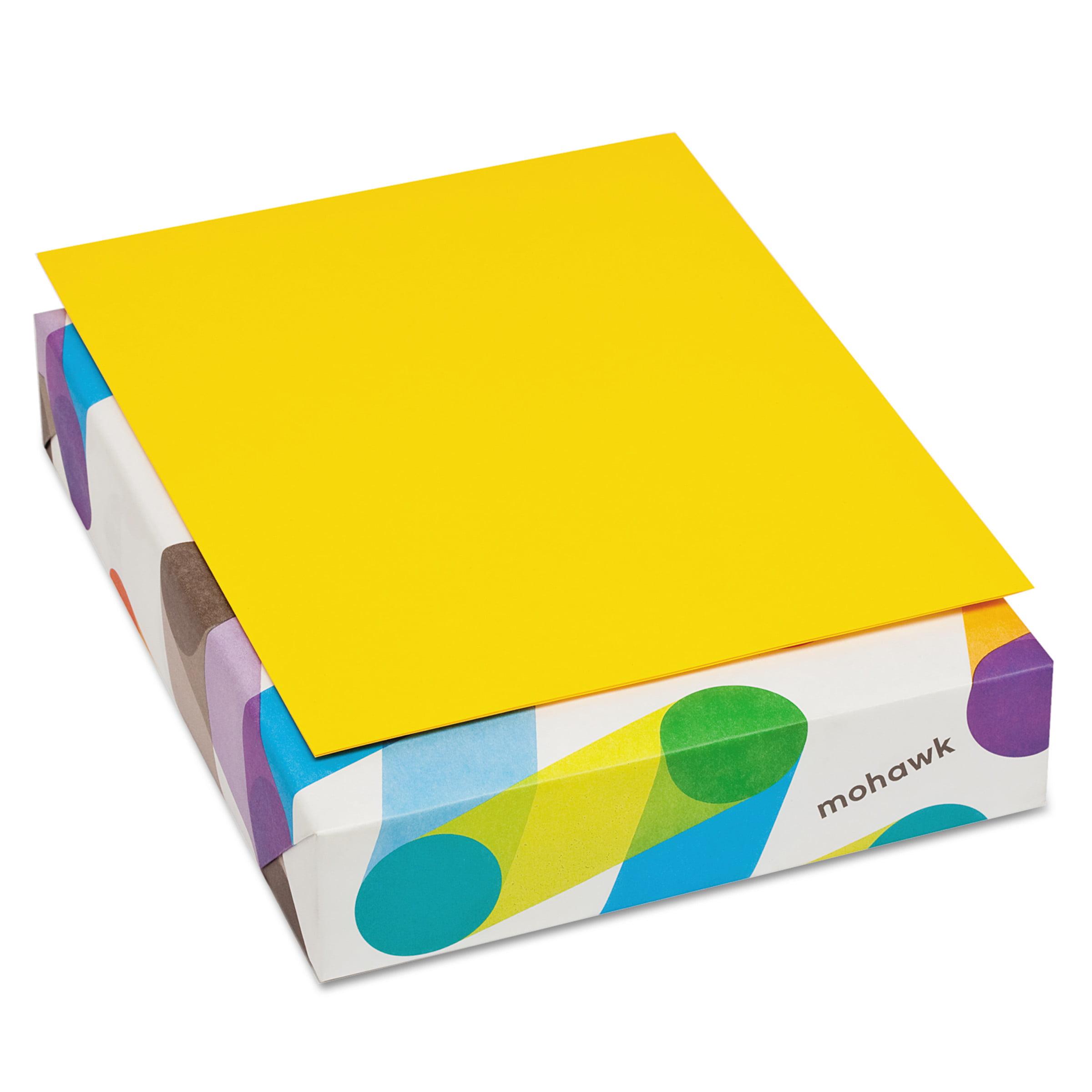 Mohawk BriteHue Multipurpose Colored Paper, 20lb, 8 1/2 x 11, Sun Yellow, 500 Sheets -MOW472808