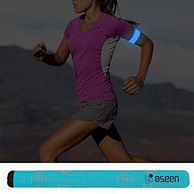 LED Slap Bracelet Runner Lights Rainproof Jogging Armband Wraps Kids Gift Green