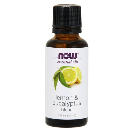 NOW Essential Oils, Lemon & Eucalyptus Oil Blend, Invigorating Aromatherapy Scent, Blend of Pure Lemon Oil and Pure Eucalyptus Oil, Vegan, -