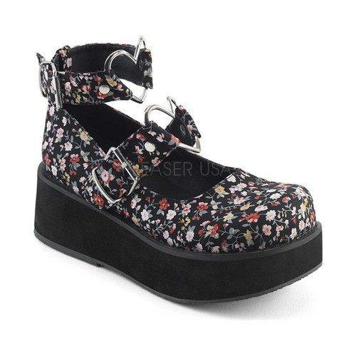 Women's Demonia Sprite 02 Platform Mary Jane by PleaserUSA