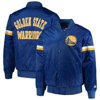 Golden State Warriors Starter The Champ Varsity Satin Jacket - Royal