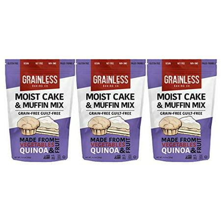 Grainless Grain Free Cake | Muffin Baking Mix, Paleo Friendly, OU Kosher, 3 Packs - Vegane Halloween Muffins