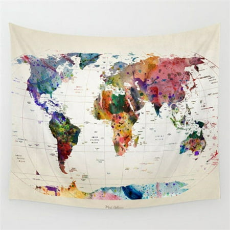 Tapestry World Map 60''x50'' Vintage World Map Mandala Wall Hanging Tapestry