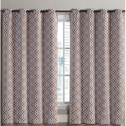 Luxury Home Alexander Curtain Panel (Set of 2)