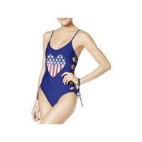 6ca8eca8ddf Product Image California Waves Womens Side Tie Heart One-Piece Swimsuit