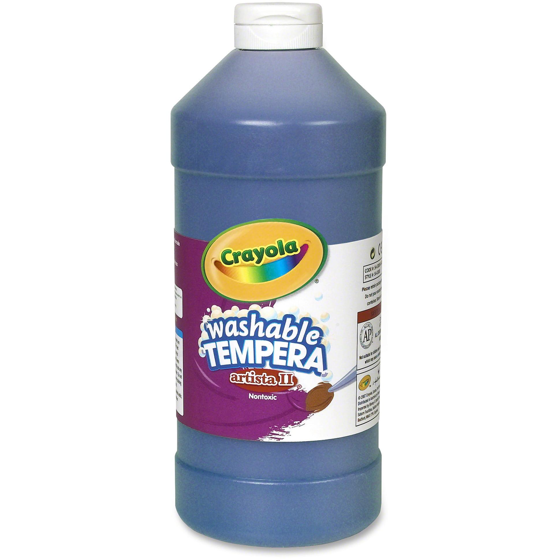 Crayola Artista Ii Washable Tempera Paint, 32 Oz, Blue