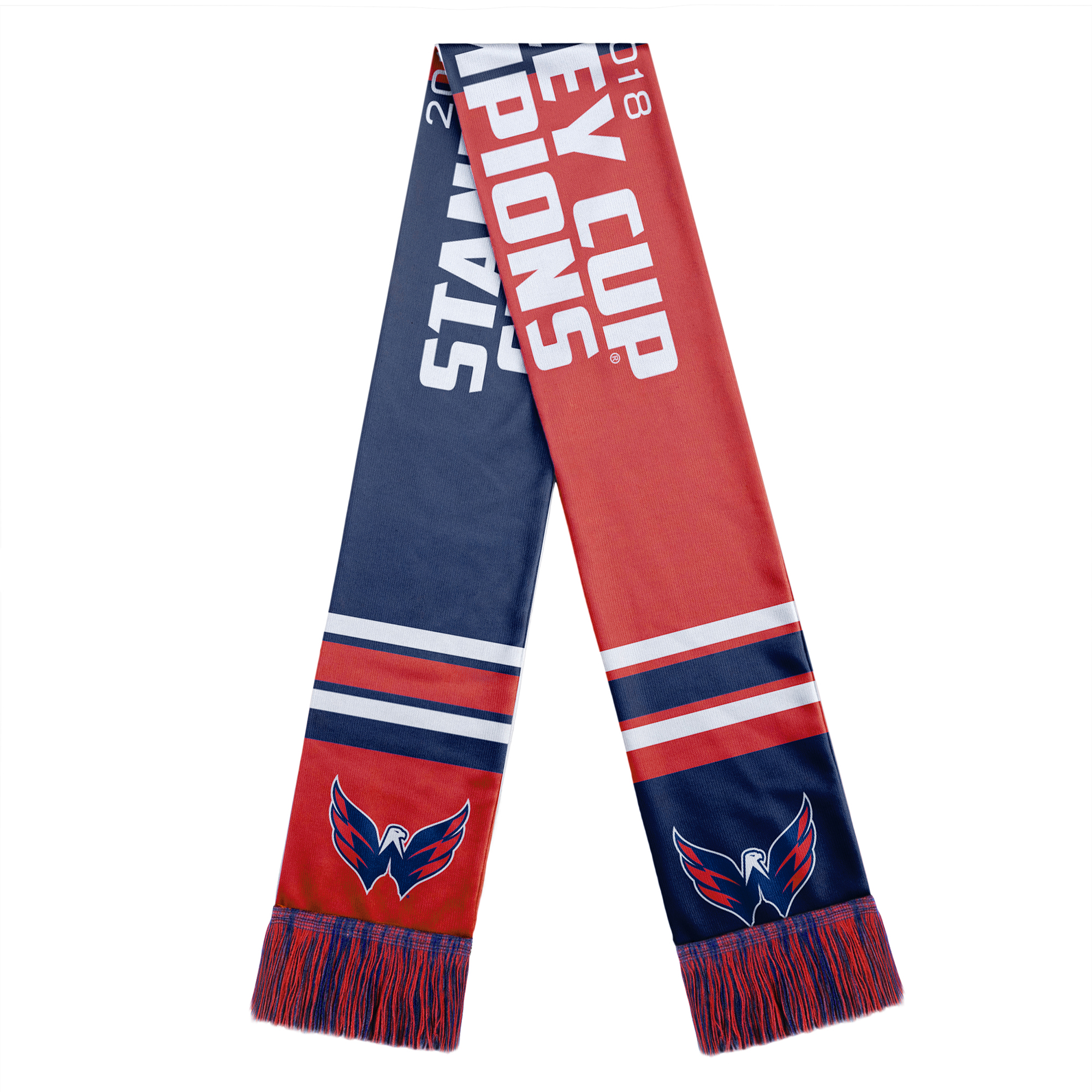Washington Capitals 2018 Stanley Cup Champions Acrylic Scarf - Red - No Size