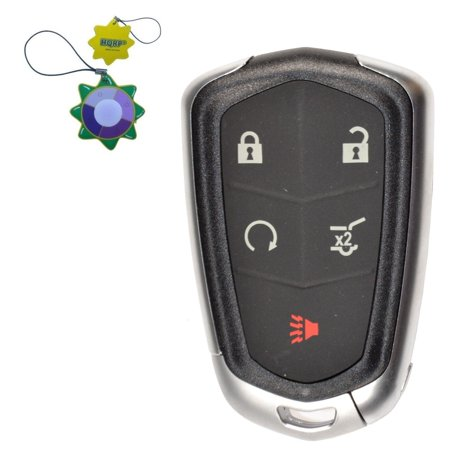 HQRP Remote Key Fob Shell Case Keyless Entry w/5 Buttons for Cadillac CTS 2014 2015 2016; CT6 2016 2017 + HQRP UV Meter