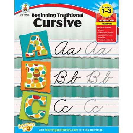 Beginning Traditional Cursive, Grades 1 - 3 Cursive Writing Capital Letters