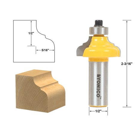 Classical Ogee Edging and Molding Router Bit Small - 1/2