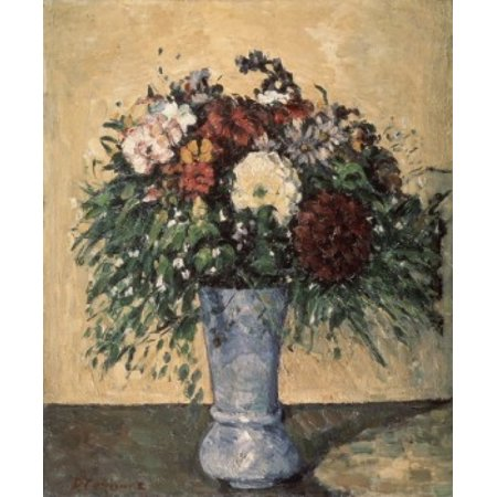 Paul Cezanne Vases (Bouquet in a Blue Vase c 1873-75 Paul Cezanne Oil on Canvas Museum of Modern Western Art Moscow Russia Poster Print )
