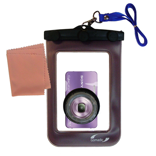 Gomadic Waterproof Camera Protective Bag suitable for the Sony Cyber-shot DSC-W570 - Unique Floating Design Keeps Camera Clean and Dry