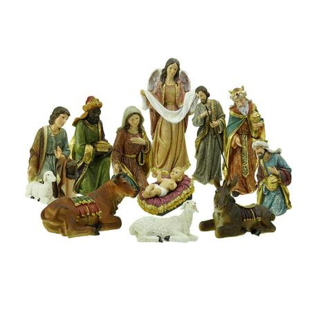 11-Piece Holy Family and Three Kings Inspirational Religious Christmas Nativity Set