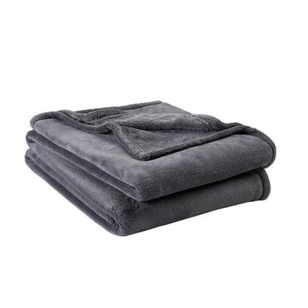 Mainstays Plush Gray King Bed Blanket, 1 Each (Best Type Of Blanket)