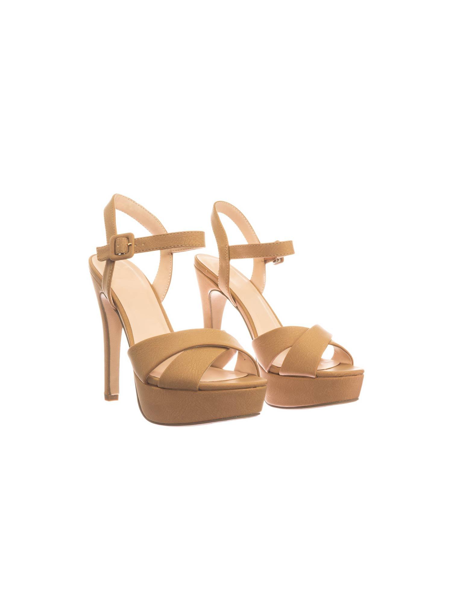 Eyewear by Delicious, High Heel Platform Sandal Open Toe Criss Cross Sandal Platform In Solid & Floral Print 2f1f07