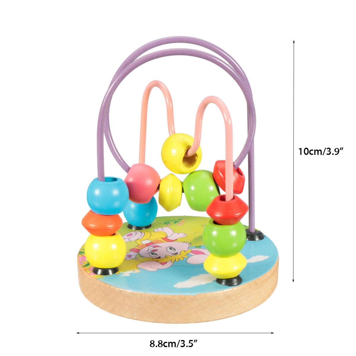 1Pc Baby aroundbead Kids Wooden Mini Around Beads Infant Intelligence Educational Game Toy Random Delivery