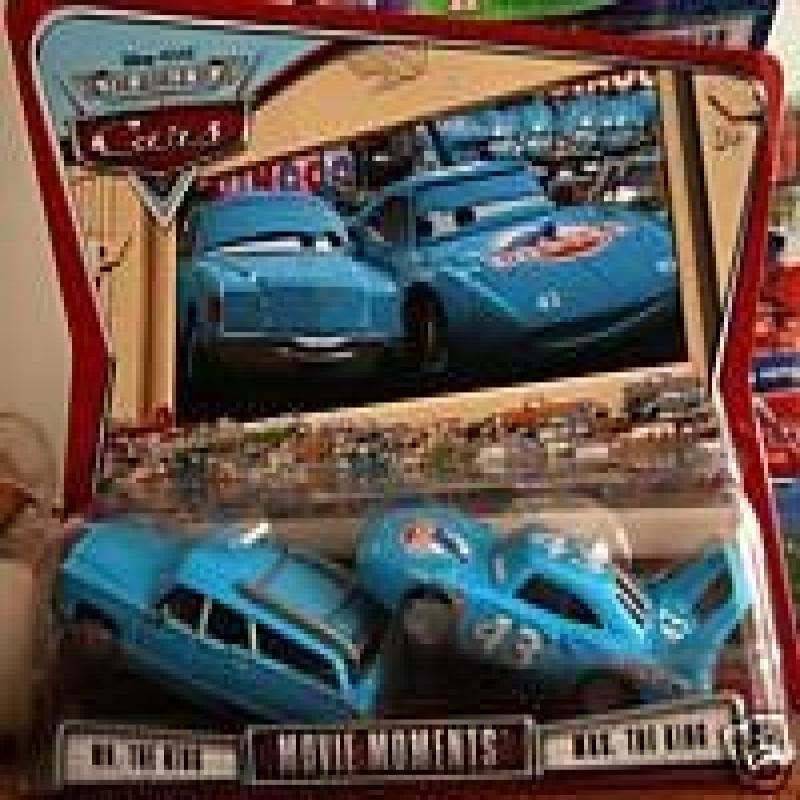 Pixar Cars Movie Moments: Mr. & Mrs. The King World of Cars Edition 1:55 Scale Mattel by