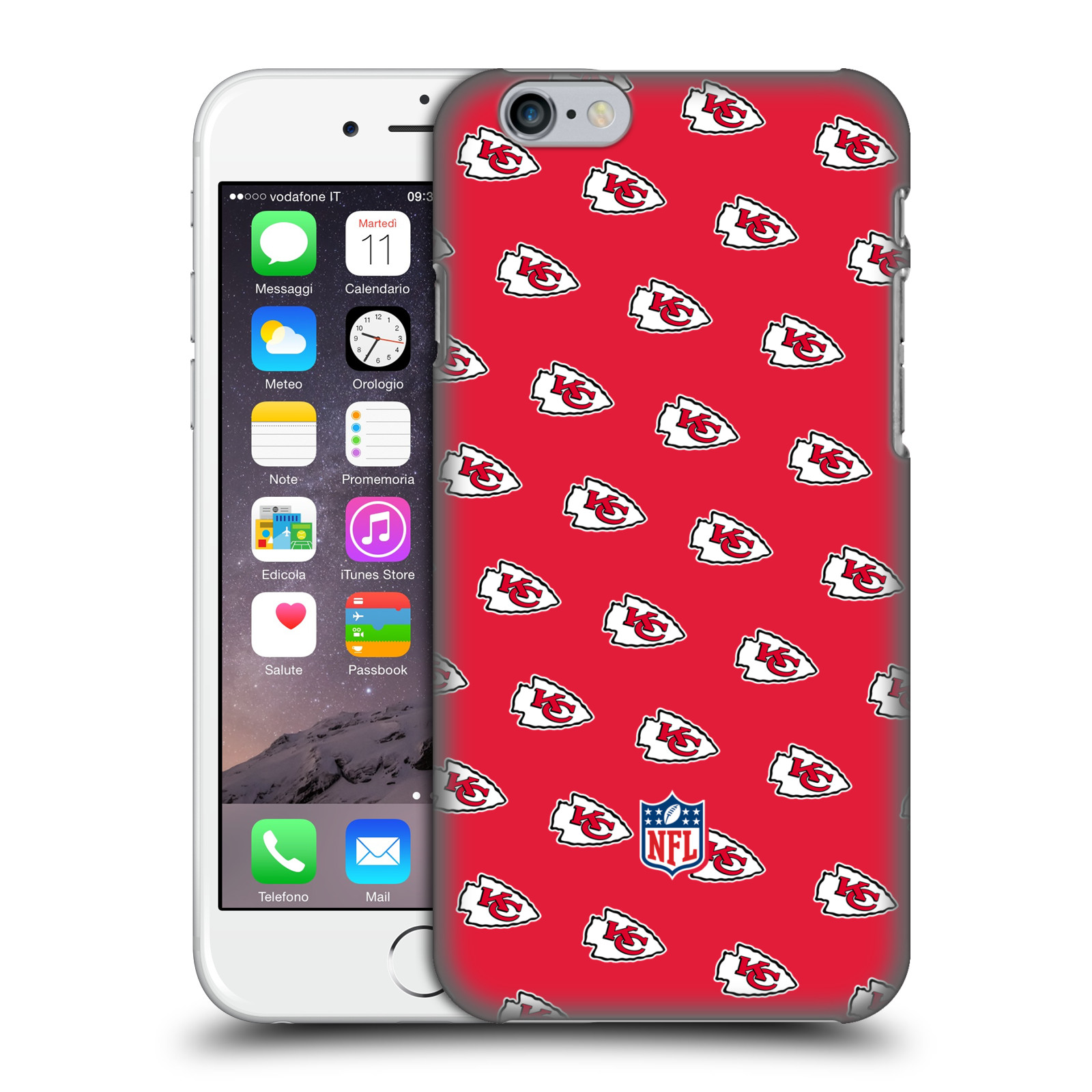 OFFICIAL NFL 2017/18 KANSAS CITY CHIEFS HARD BACK CASE FOR APPLE IPHONE PHONES