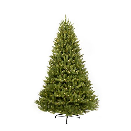 Puleo International 9' Pre-Lit Fraser Fir Artificial Christmas Tree with 1000 Clear UL Listed Lights