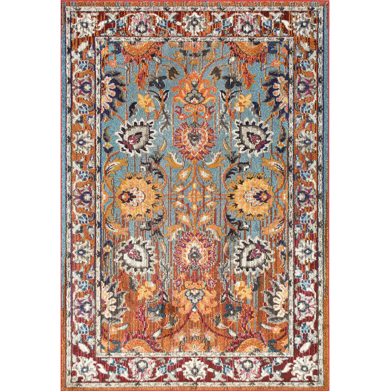 nuLOOM Machine-Made Floral Mallory Area Rug by nuLOOM