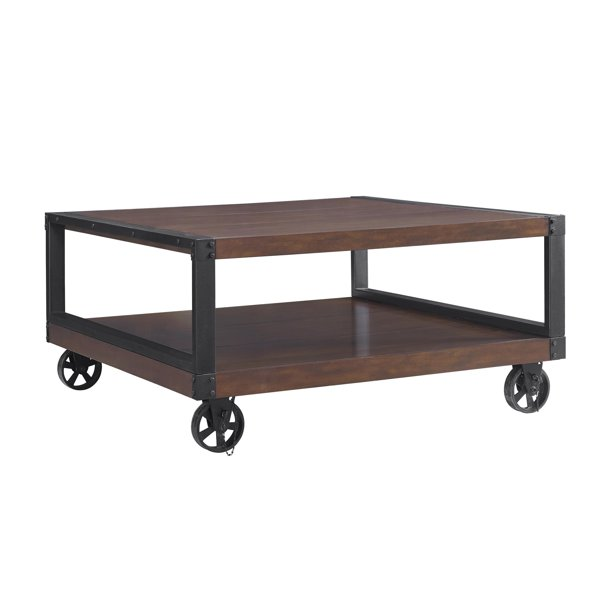 Southampton Wood Veneer Coffee Table Espresso Walmart Com Walmart Com